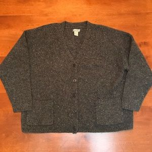 Women's SKYR size large grey 100 % wool sweater
